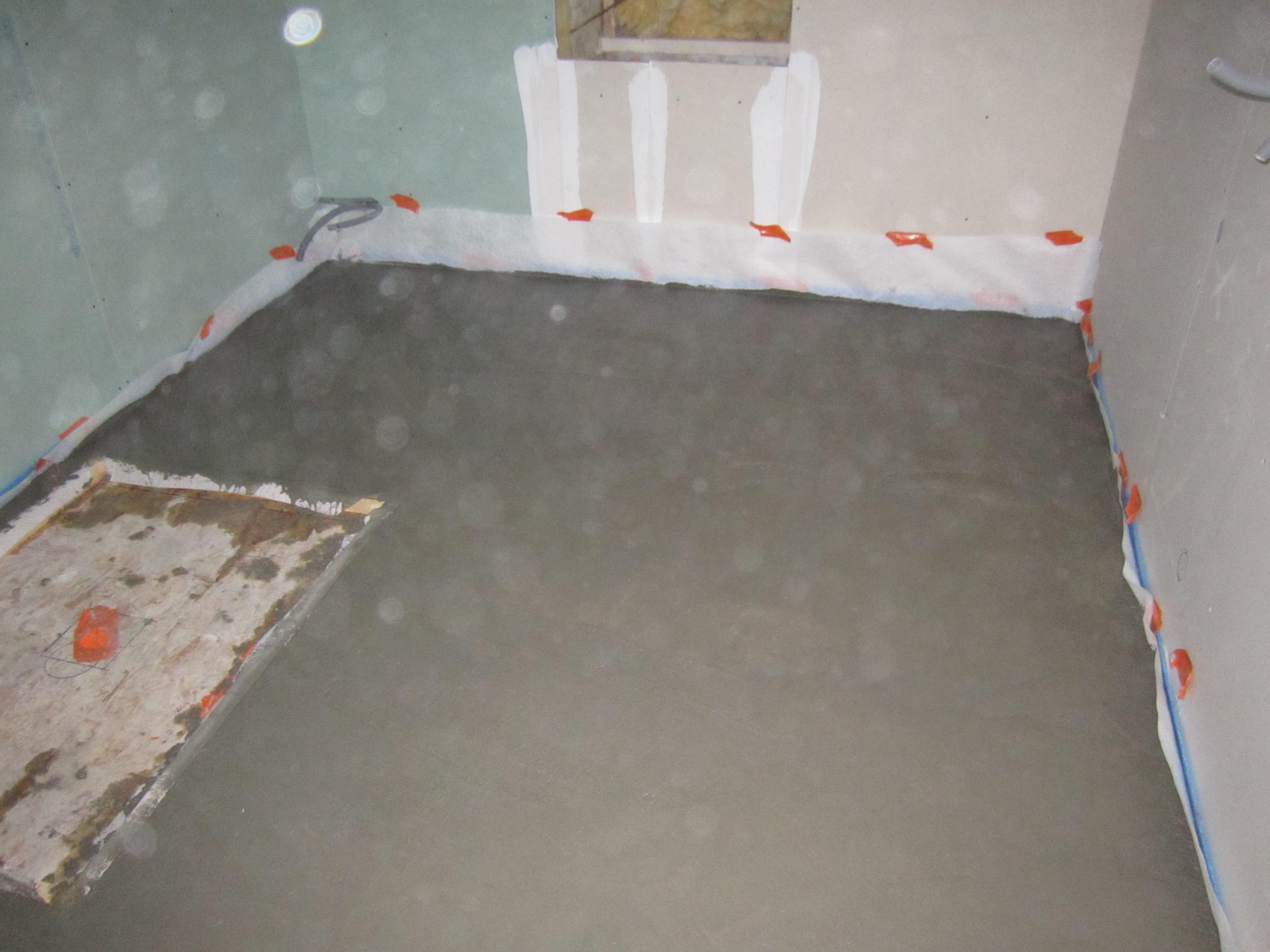 Chape beton sur plancher osb pour salle de bain - Communauté Leroy