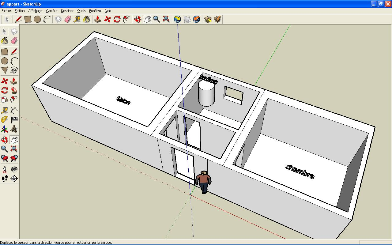 Appart1 jpg for Sketchup plan maison
