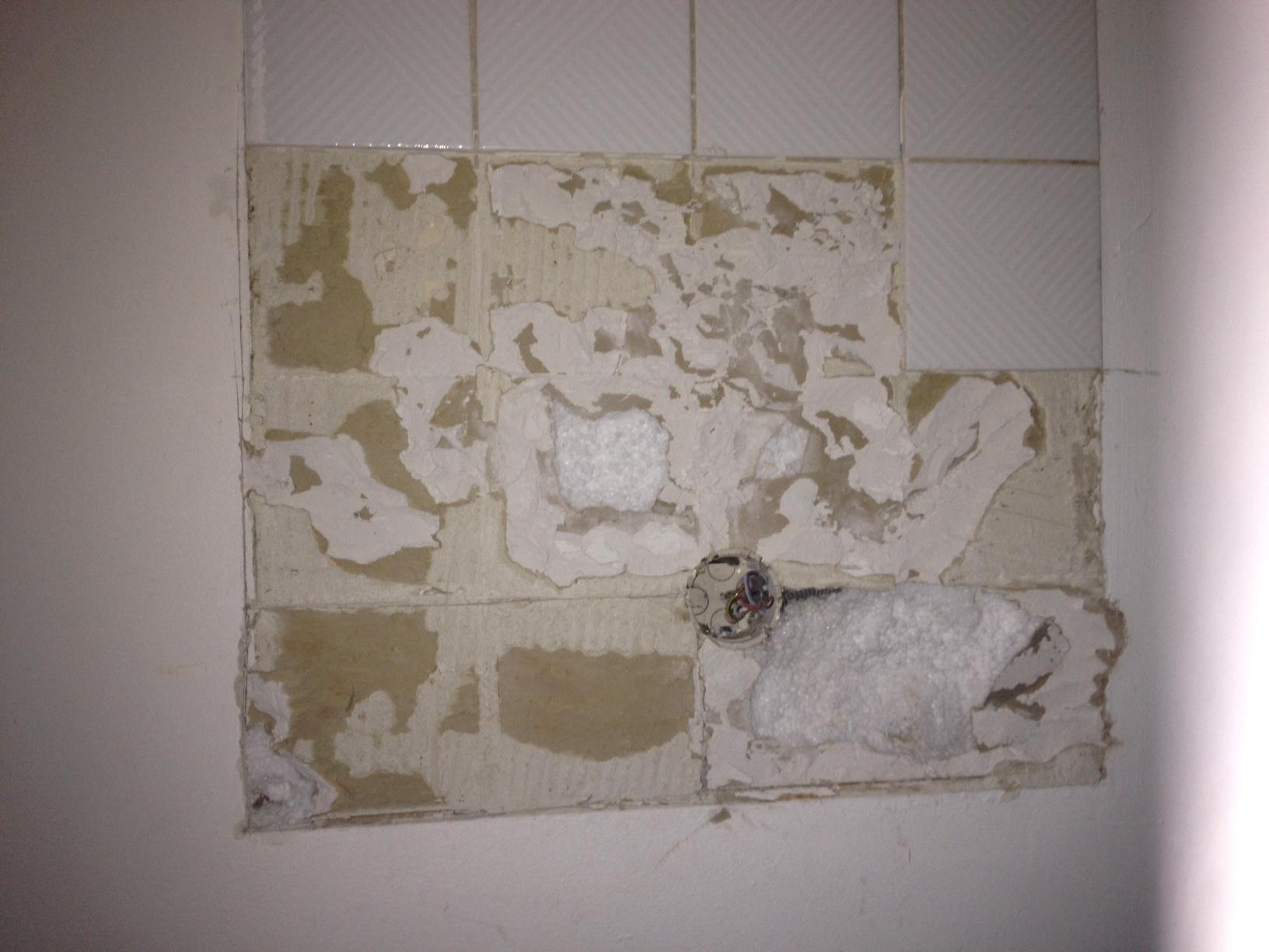 Comment Enlever Faience Sur Placo plaque de platre avec polystyrène endommagées - communauté
