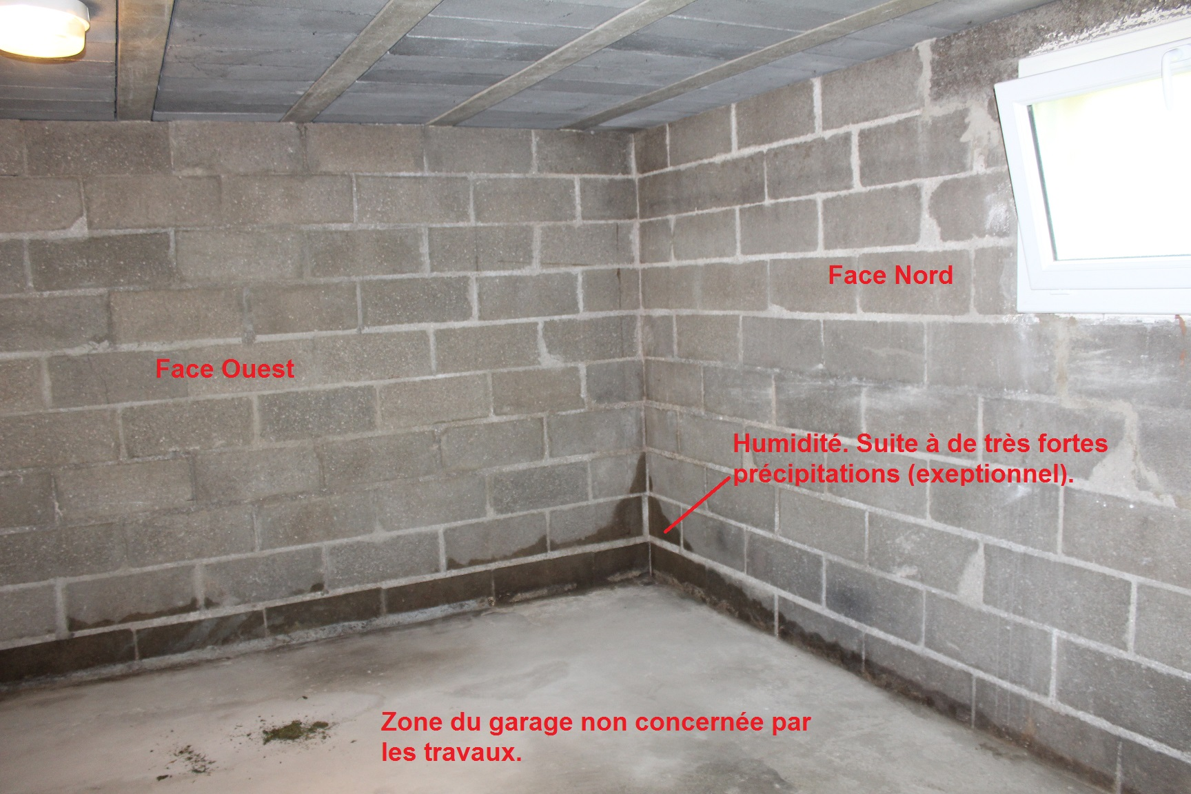 Isolation sous-sol semi-enterré pour accueil visit - Communauté