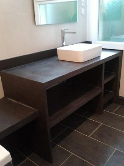 Fabrication meuble et vasque beton cellulaire - Communauté Leroy Merlin