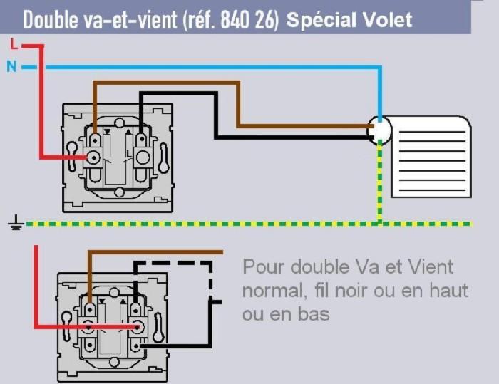 Branchement D Un Interrupteur A Cle Pour Volet Rou