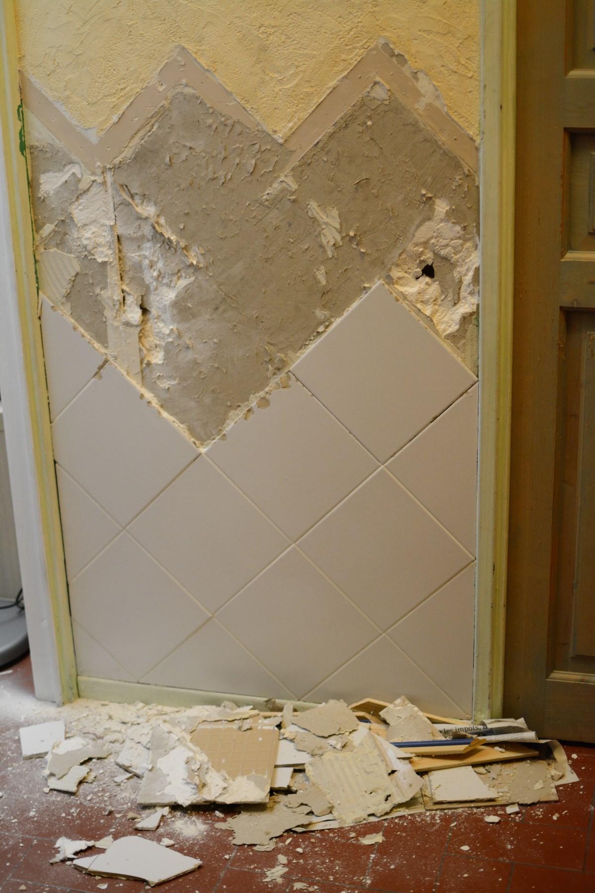 Enlever Du Carrelage Mural Sur Du Placo réparation placoplatre suite arrachement du carrel