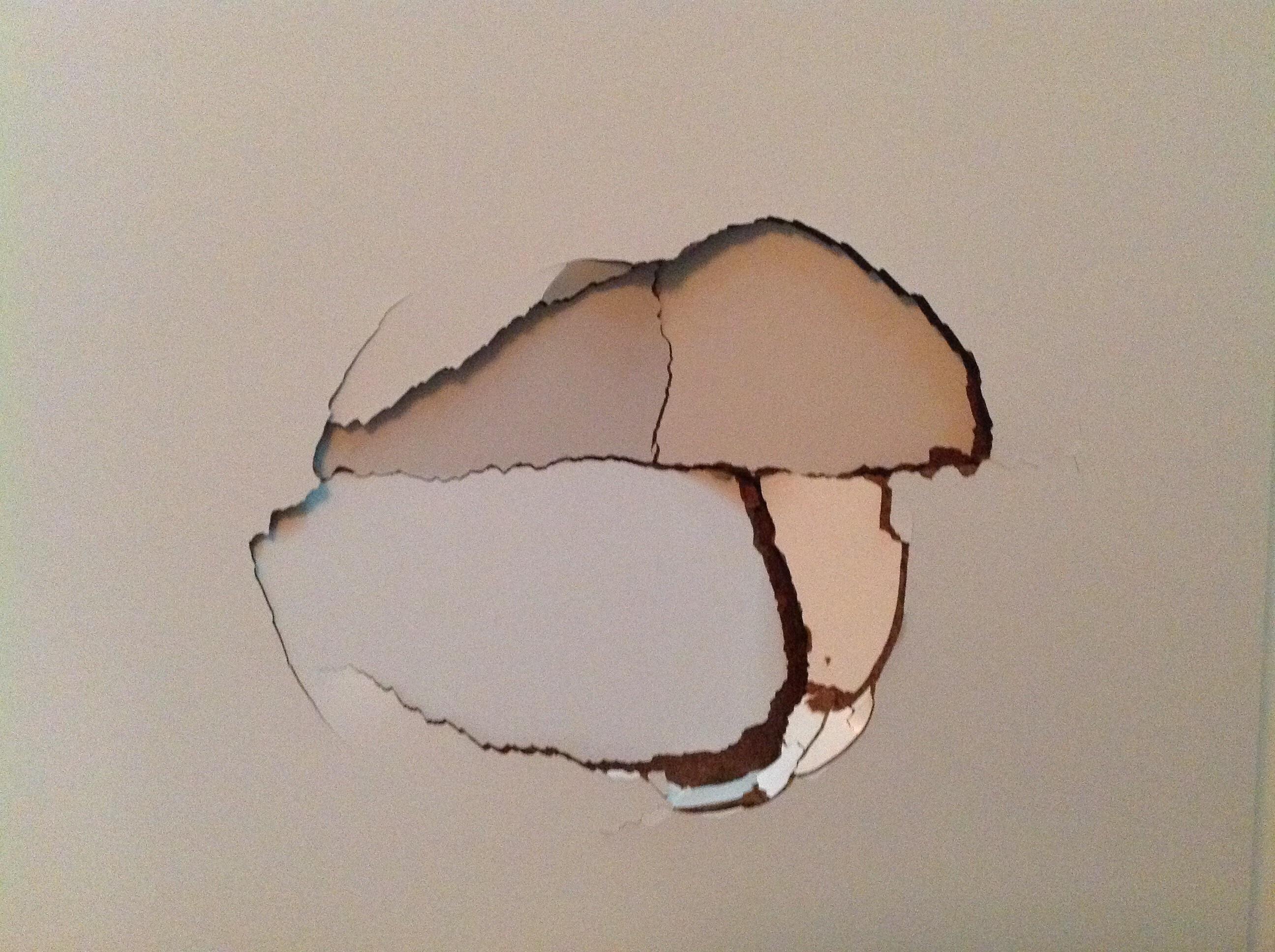 Trou dans ma porte de chambre blanc laque communaut leroy merlin - Reboucher trou mur placo ...